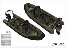 Patrouilleurs semi-rigides et barges gamme SYLAR